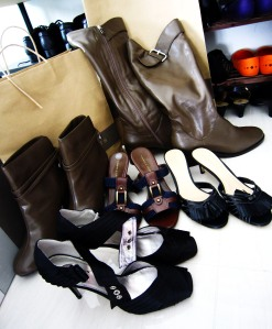 My haul from the Charles and Keith 2011 Warehouse Sale