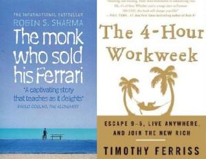 The Monk Who Sold His Ferrari by Robin Sharma, and The 4-Hour Workweek by Tim Ferriss