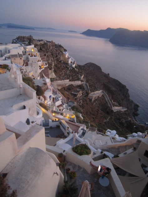Pretty cliff-side houses in Oia