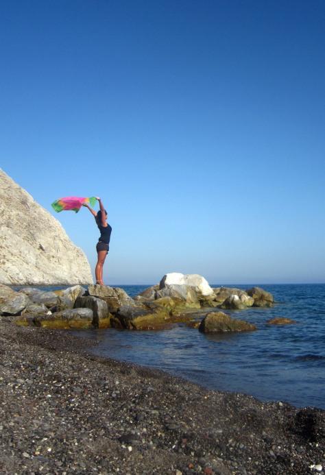 Freedom at Perissa Beach
