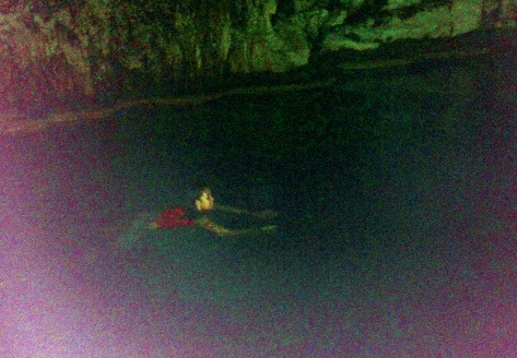 Underground pool at Sumaguing cave