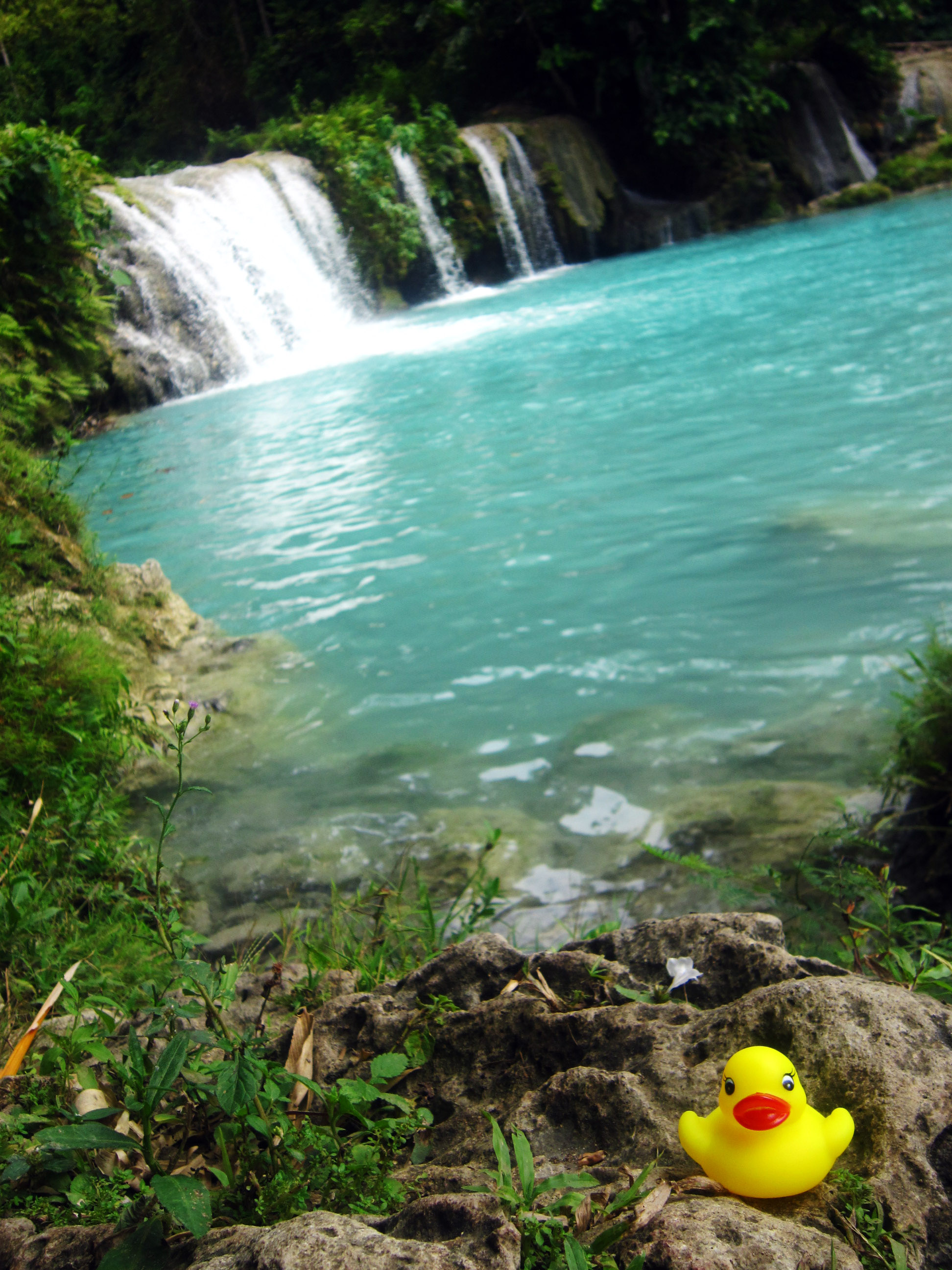 Paradise at Cambugahay Falls. Rubber ducky not included.