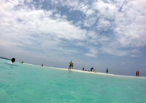 Random sandbar near Bandos in the Maldives