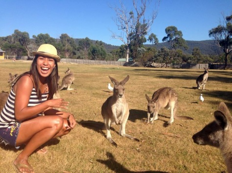 With the cute residents of the East Coast Natureworld