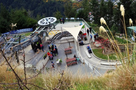 If you're not up for a crazy leap, how about zipping down the mountain in a luge cart instead?