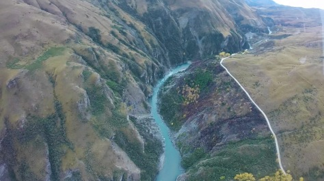 Bird's eyeview of Skippers Road and the canyon