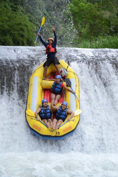 Rafting at Telaga Waja