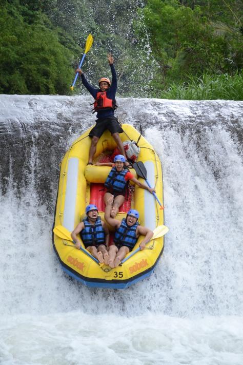 Rafting at Telaga Waja