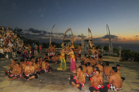 Another way to enjoy the sunset at Uluwatu is to watch the traditional Kecak and Fire Dance, set against a sensational backdrop.
