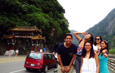 By the Taroko National Park Gate