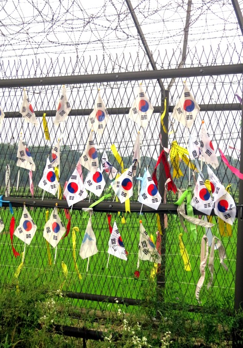 South Korean flags