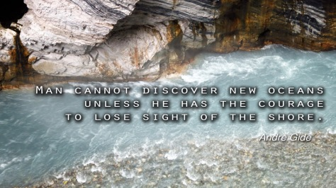 Man cannot discover new oceans unless he has the courage  to lose sight of the shore. - Andre Gide