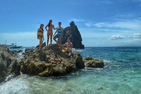 Of course, we just had to climb the rocks and take a picture.