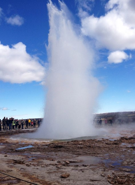 Of course, you can't leave Iceland without seeing these bad boys! Sadly, the hot spring that gave the phenomenon its name is now dormant. However, its brothers in Geysir are still happy to take the stage.