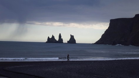 If you're in the mood for something a little more dark and brooding than waterfalls, then the Black Sand Beach located in the town of Vík obliges with its dramatic vista.