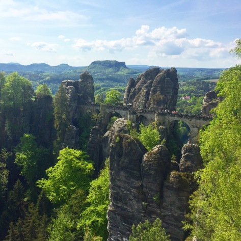 The famous Bastei Bridge