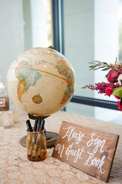 Globe Wedding Guestbook