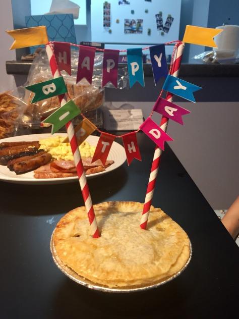 Steak and Kidney Birthday Pie
